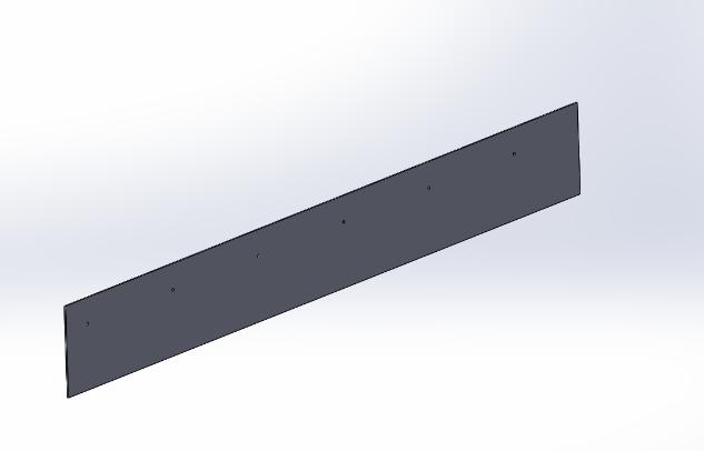 平の板の3Dモデル