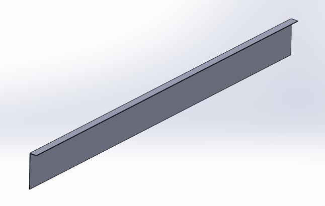 L字に折れ曲がった板の3Dモデル